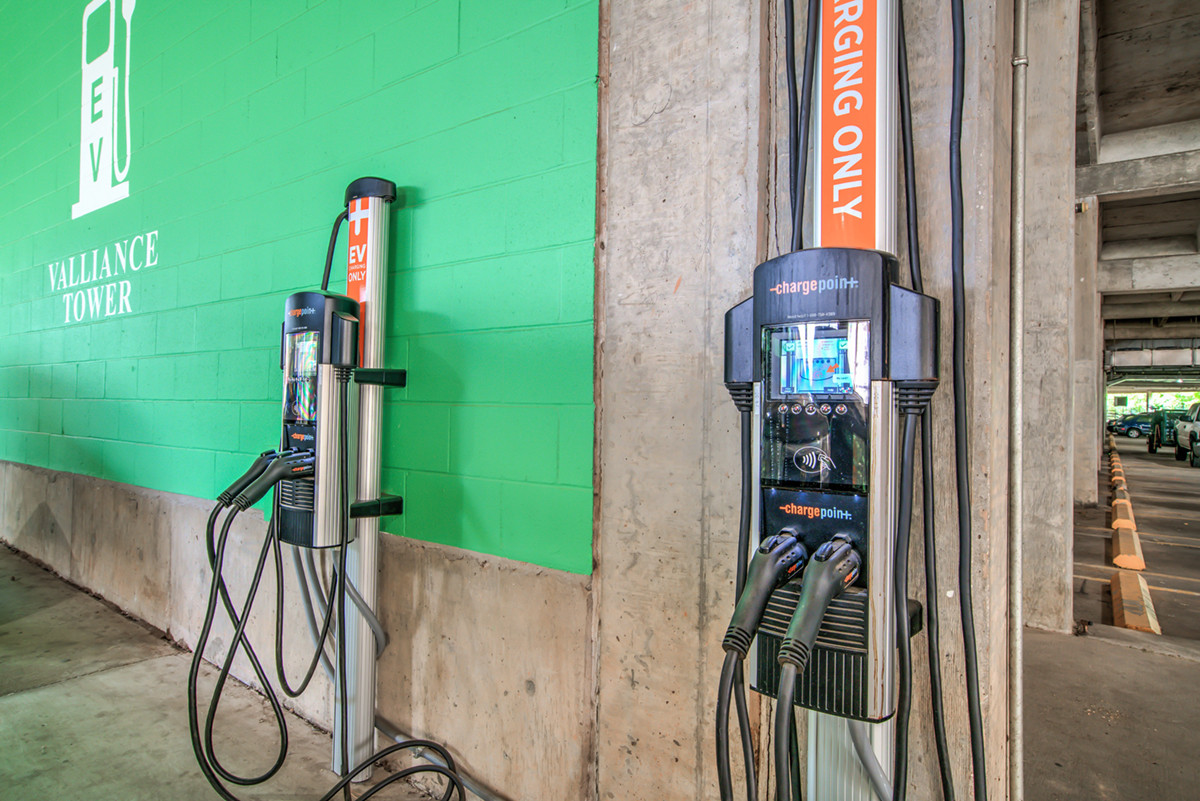 Valliance Tower electric vehicle charging station