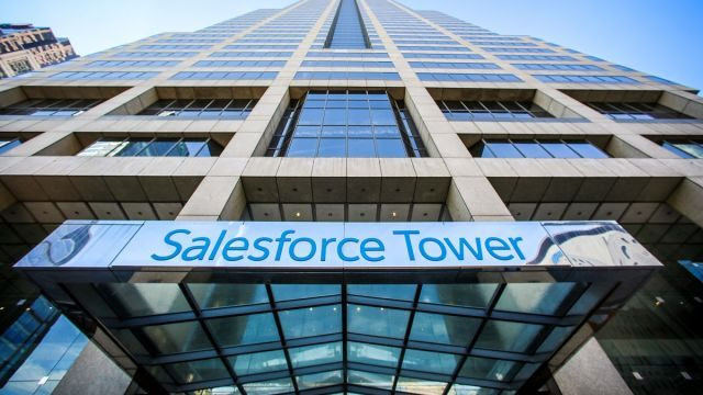 Salesforce Tower Entry